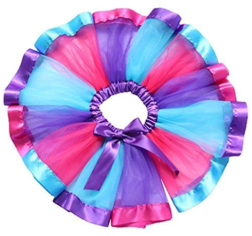 (Little Kids Girls Rainbow Skirt Cute Tutu Dance Ballet Party)