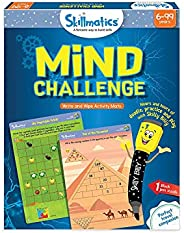 Skillmatics Educational Game: Mind Challenge (6-99 Years)   Erasable and Reusable Activity Mats   Travel Toy with Dry Erase