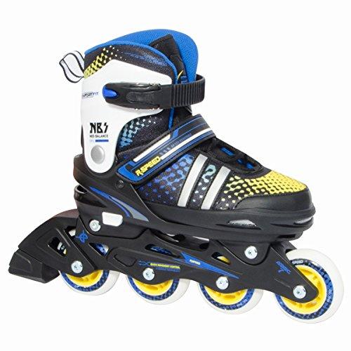 幽霊バレーボール印象r-speed調節可能インラインスケート、ピンクとブルー、ボーイズ、ガールズ、快適で安全beginner-seniorスケーター