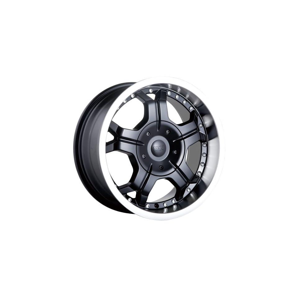 17 Inch 17x8 Ion Alloy wheels STYLE 191 Black w/ Machined Lip wheels