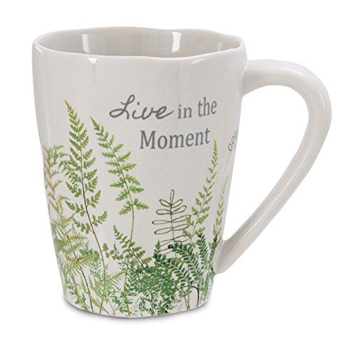 Pavilion Gift Company 62018 Live in The Moment Stoneware Mug, 12-Ounce, Sherry Cook Studio