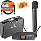 Audio-Technica ATW-2120b 2000 Series UHF Wireless System - Frequency Band I Bundle with ATW-RC1 Carrying Case, XLR Cable, and Austin Bazaar Polishing Cloth