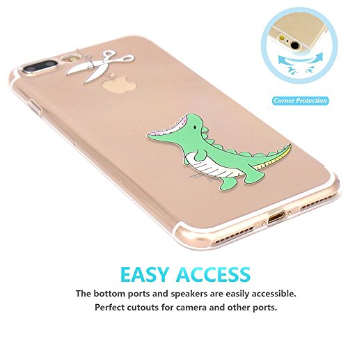 iPhone 7 plus Hülle, JIAXIUFEN Neue Modelle TPU Silikon Schutz Handy Hülle Case Tasche Etui Bumper für Apple iPhone 7 plus(2016) - Hungry Crocodile