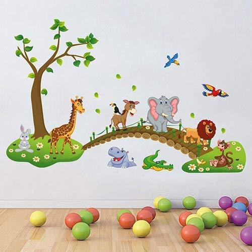 Ogquaton Amovible Cartoon Forest Stickers Muraux Enfants Chambre D/écor DIY Art D/écalque Durable et Utile