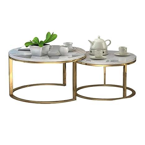 Astonishing Amazon Com Stacking Coffee Side Table Set Marble Top Round Inzonedesignstudio Interior Chair Design Inzonedesignstudiocom