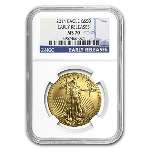 2014 1 oz Gold American Eagle MS-70 NGC (Early Releases) Gold MS-70 NGC