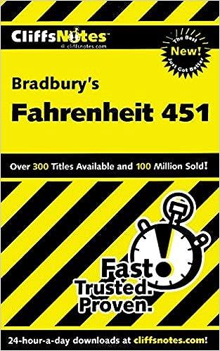 Download PDF CliffsNotes on Bradbury's Fahrenheit 451