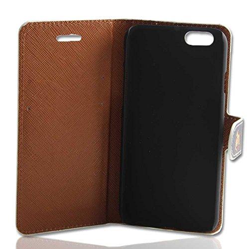 Handy Tasche Case Etui book für Apple iPhone 6 / Hülle Etui Schutzhülle Handytasche Totenkopf