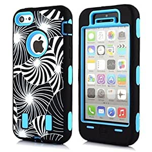 DD 2 in 1 Fireworks Robot Style PC and TPU Composite Case for iPhone 5C(Assorted Colors) , Blue