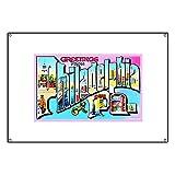 CafePress Philadelphia Pennsylvania Greetings - Vinyl Banner, 44''x30'' Hanging Sign, Indoor/Outdoor