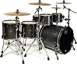 Mapex Saturn V MH Exotic 5pc Satin Black Maple Burl Drum Set SV628XBKFB