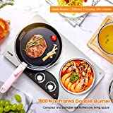 CUKOR Portable Electric Stove, 1800W Infrared