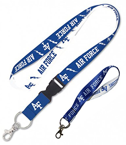WinCraft Air Force Falcons Lanyard Combo Pack 1 Premium Lanyard and 1 Key Strap - Air Force Falcons Keychain