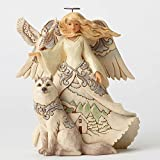 Jim Shore Heartwood Creek JS Hwc Fig Wdlnd Angel/White Figurine