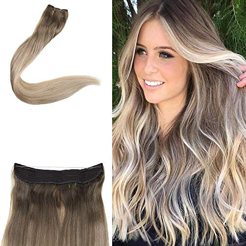 Full Shine Invisible Hair Extensions Secret Wire Halo Extensions 12
