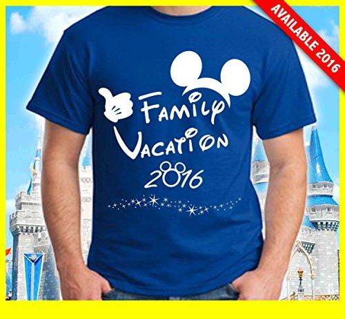 [Disney Family Vacation T-Shirts Matching Cute Mickey T-Shirts (Red, XL Adult)] (Family Disney Shirts)