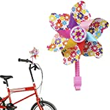 Bike Handlebar Flower Pinwheel for Kids, Mini-Factory Spinning Pinwheel Decoration for Kid's Bicycle – Easy Snap On