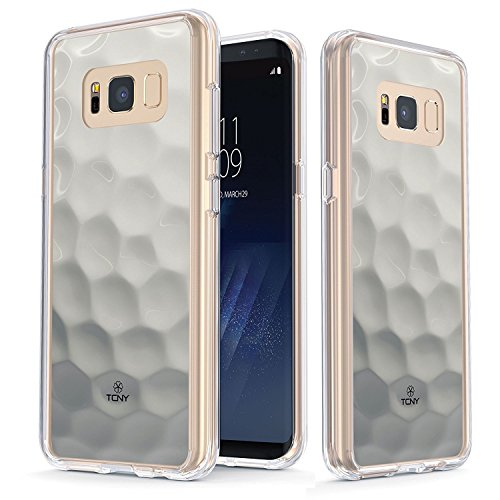 Samsung Galaxy S8 Case   True Color Clear Shield Golf Ball Sports Collection Printed On Clear Back   Soft And Hard Thin Shock Absorbing Dustproof Full Protection Bumper Cover