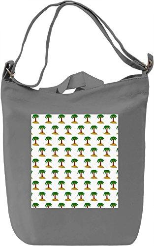 Palm Tree Print Borsa Giornaliera Canvas Canvas Day Bag| 100% Premium Cotton Canvas| DTG Printing|