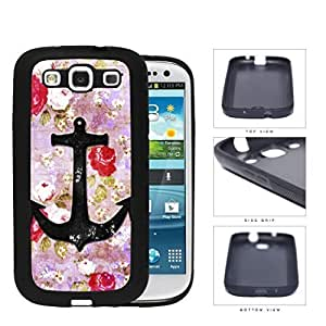 Vintage Roses And Anchor Dirty Grunge Rubber Silicone TPU Cell Phone Case Samsung Galaxy S3 SIII I9300
