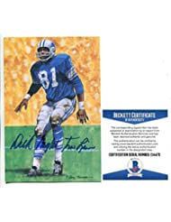 faac3fc93 Dick Night Train Lane Signed Goal Line Art GLAC Autographed Lions Beckett  BAS - Beckett Authentication at Amazon s Sports Collectibles Store