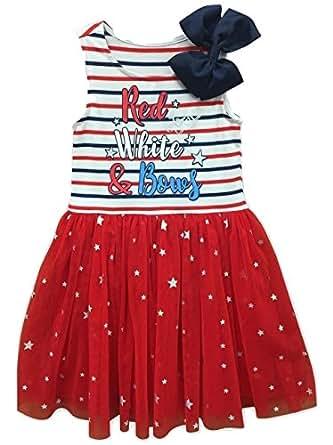 Amazon.com: Jojo Siwa Girls Red White & Bows' Dress- Stars