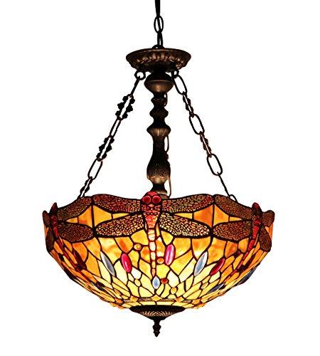 Dragonfly Tiffany Style Pendant Light Fixture - 6