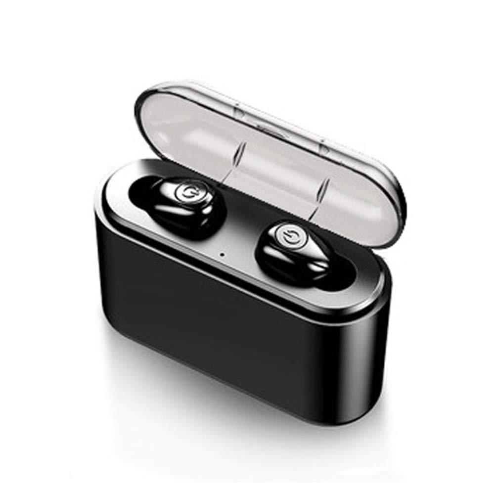 Serveyou Wireless Earphone Clear Calling Charging Box Headphone USB Cable Bluetooth 5.0 PC Universal Mini Earbuds Headset Waterproof Stereo Binaural for X8S-TWS(Black)