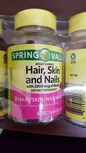SPRING VALLEY HAIR SKIN NAILS, 3PK 60 GUMMIES EACH