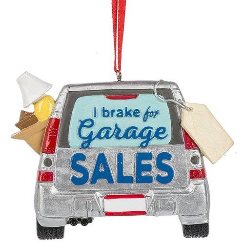 I Brake for Garage sales Ornament]()