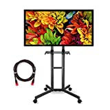 Suptek Universal TV Cart For LCD LED Plasma Panel Stand Mount With Wheels Mobile And 1 Adjustable Shelf For 32 to 60 Inch (ML5073-3 )