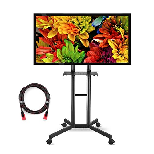 Suptek Universal TV Cart For LCD LED Plasma Panel Stand Mount With Wheels Mobile And 1 Adjustable Shelf For 32 to 60 Inch (ML5073-3) by suptek