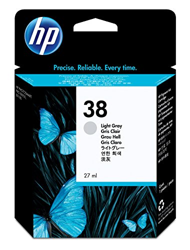 HP 38 Light Gray Pigment Original Ink Cartridge (C9414A) DISCONTINUED BY MANUFACTURER
