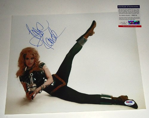 JANE FONDA signed *BARBARELLA* Queen of the Galaxy 11X14 photo PSA/DNA #2