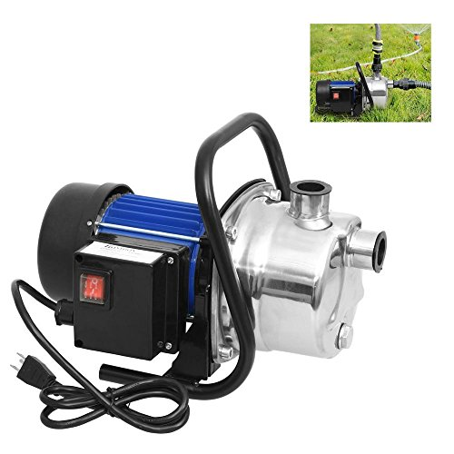 - Opuko Portable 1.6HP Stainless Water Pump Shallow Well Booster Sprinkling for Irrigation and Water Transport Home Garden Lawn Pool