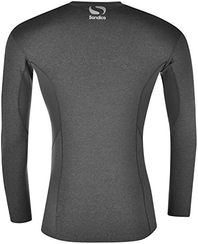 Sondico Base Core Long-Sleeved Crew-Neck Mens Base Layer Shirt Vest