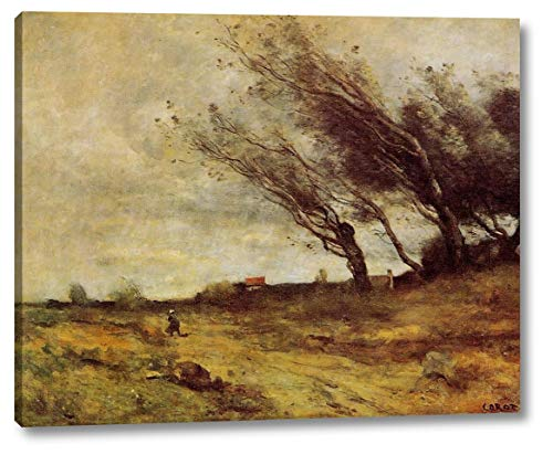 (Windswept Landscape by Jean-Baptiste-Camille Corot - 18