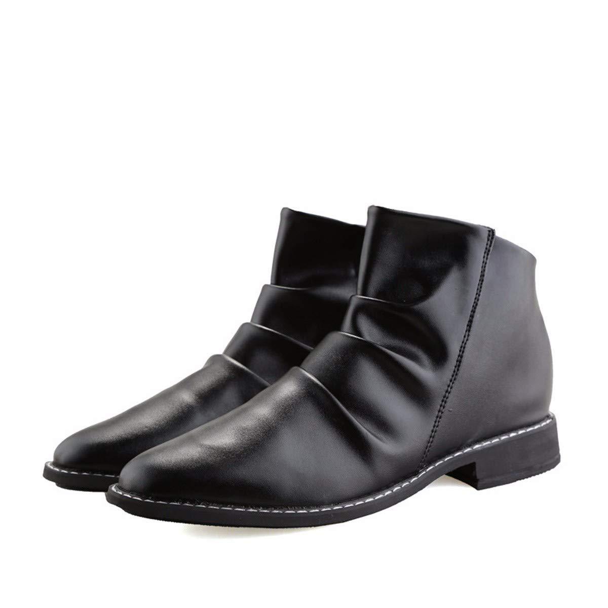 KMJBS-Mode Lässige Stiefel Britische GAO Peng Martin Lederstiefel Männer Schwarz 42
