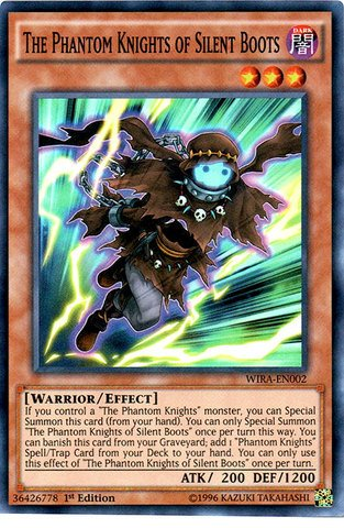 (Yu-Gi-Oh! - The Phantom Knights of Silent Boots - WIRA-EN002 - Super Rare - 1st Edition (WIRA-EN002) - Wing Raiders - 1st Edition - Super)