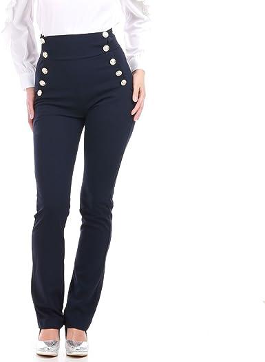 pantalon bouton taille haute