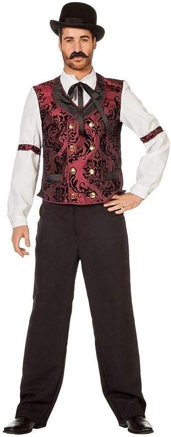 shoperama Saloon Barkeeper – lejano Oeste Hombre Disfraz Camisa con Conector y Chaleco Cowboy Western: Amazon.es: Juguetes y juegos