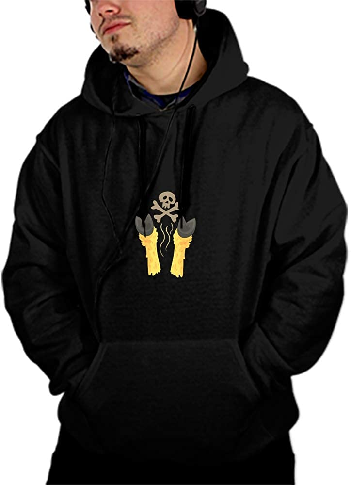 Unisex Hoofs of Sweatshirts Fashion Hoodies Rave Clothing Hooded Pullover Front Pockets