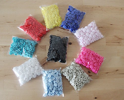 KAM 500 Sets 10 Mixed Color Size 20 T5 Plastic Resin Snaps Buttons