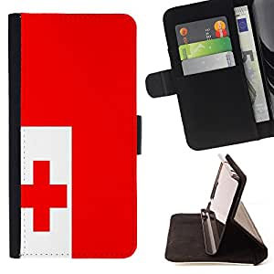 - Flag - - Premium PU Leather Wallet Case with Card Slots, Cash Compartment and Detachable Wrist Strap FOR Samsung Galaxy S3 MINI I8190 King case