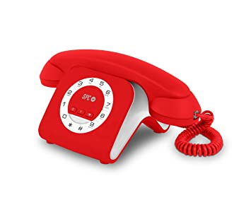 Spc TEL303609R - Teléfono, Color Rojo