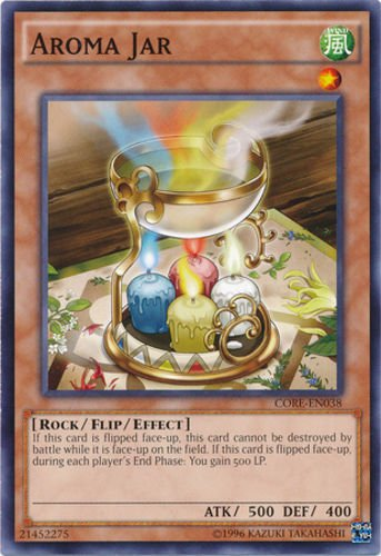 (Aroma Jar - CORE-EN038 - Common - Unlimited Edition YuGiOh Near Mint ,#G14E6GE4R-GE 4-TEW6W243179)