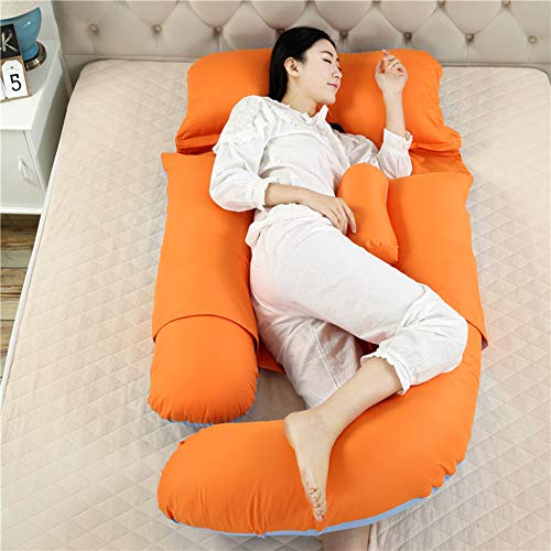 Comfortable G-Shaped Pregnancy Pillow - Maternity Pillow for Pregnant Women with Pillowcase - 69 Inch Support for Back, Hips, Legs, Belly - Inner Filling Cotton,D