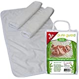 "Swaddlez [3 Pack] Changing Pad Liners - Non-Slip - 25.5"" X 13.5"" - Baby Diaper Changing Table Cover"