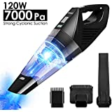 Handheld Vacuum Cleaner Cordless 7000PA Hand Vacuum Cleaner 16V Lithium 120W Rechargeable Hand Vac
