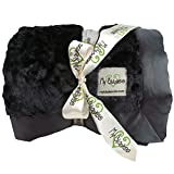 My Blankee Luxe Bella Throw Blanket, Black, 52'' X 60''